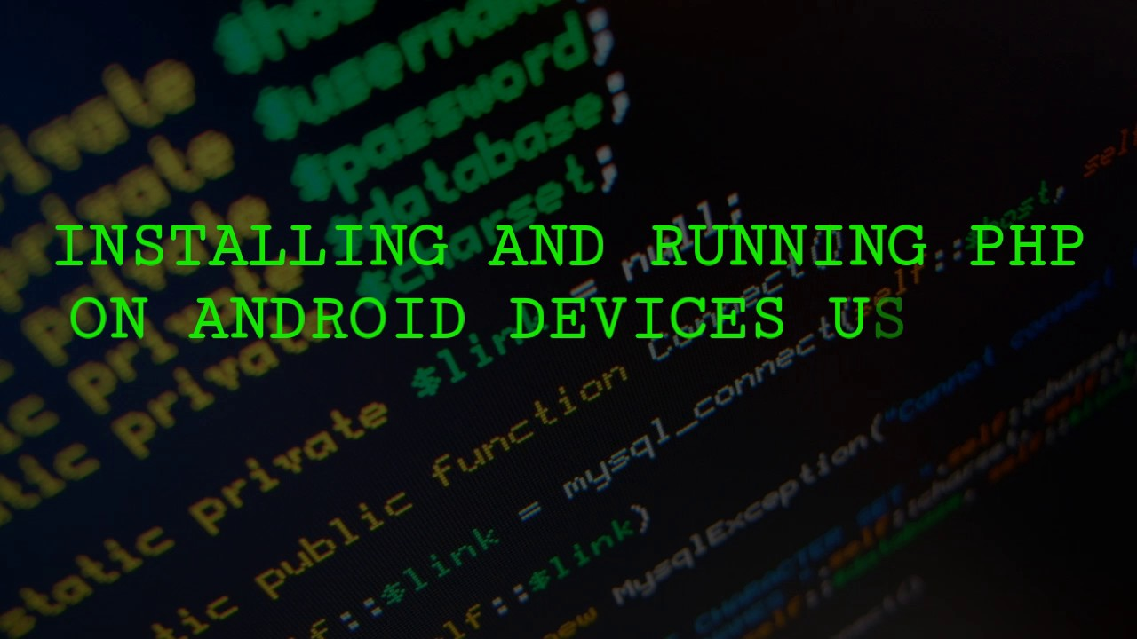 INSTALLING AND RUNNING PHP AND HTML ON ANDROID ( Bit Webserver Pro) 2017