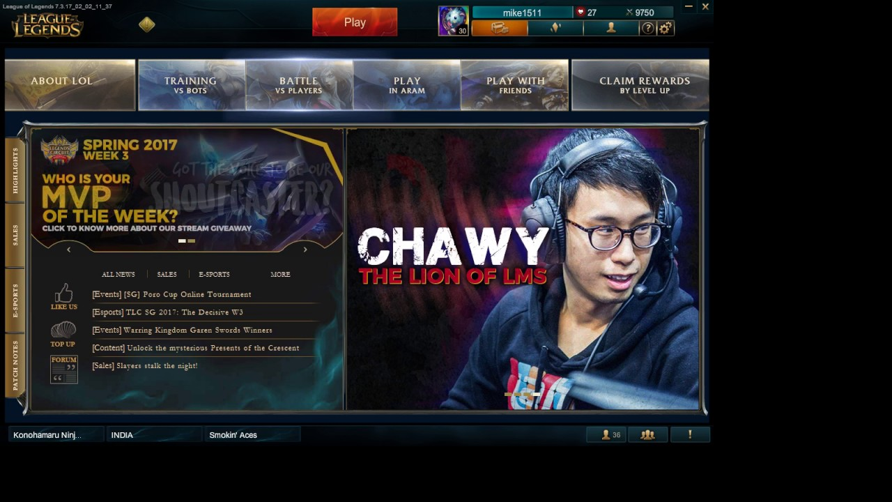 LOL Rank Live Stream - KNS Support player