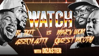 WATCH: GEECHI GOTTI and B DOT vs MARV WON and QUEST MCODY with DIZASTER