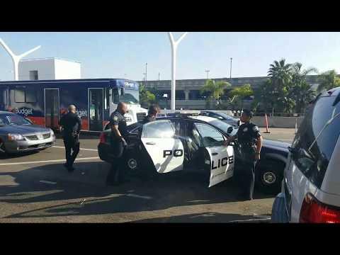 man tries to bring drugs through tsa checkpoint lax airport police at work at LAX