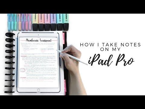 ☆ HOW I TAKE NOTES ON MY IPAD PRO 10.5 | GoodNotes, Printing & Organization | September Studies