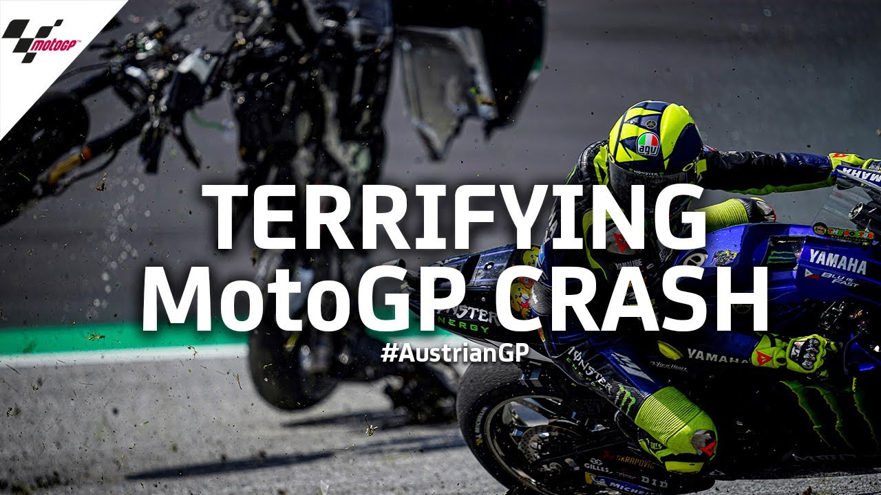 Terrifying MotoGP™ crash from every angle | #AustrianGP 2020