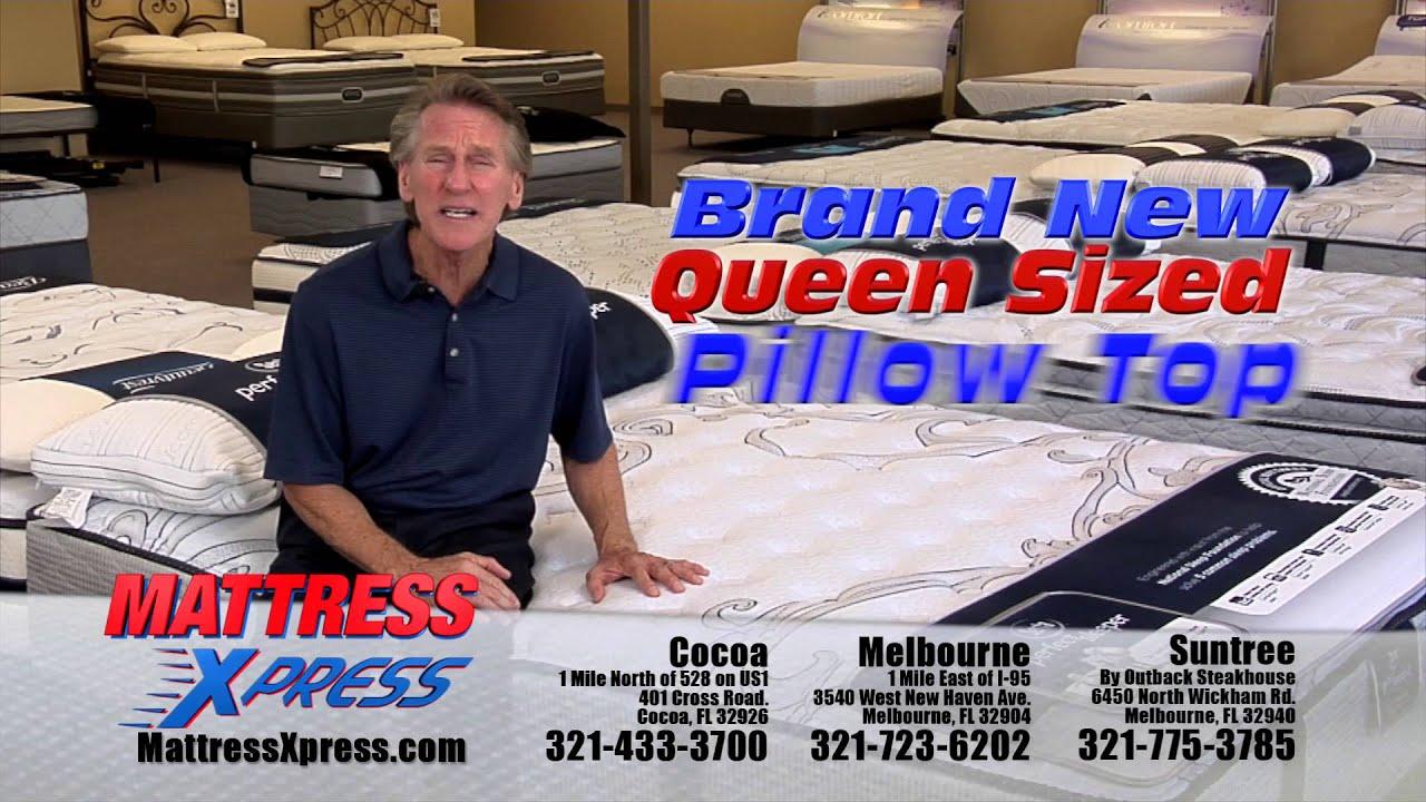 Mattress Xpress Queen Size Pillow Top 298 Mattresses Beds Melbourne Cocoa Suntree