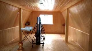видео Отделка мансарды. Внутренняя отделка мансарды гипсокартоном или деревом