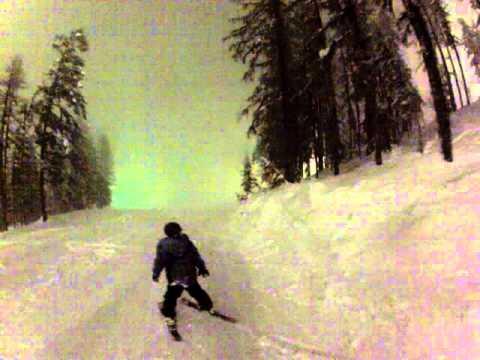 Pyle Family - Night Skiing Whitefish Montana