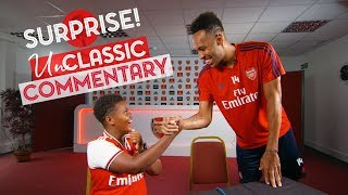 Aubameyang surprises a Junior Gunner! | UnClassic Commentary | Arsenal 3-1 Leicester City