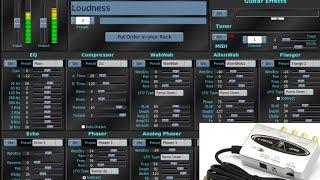 Rakarrack | Behringer UCA202 | Guitar + Software Amplifier