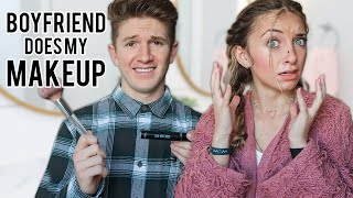 Boyfriend Does MY MAKEUP!   Brooklyn & Bailey