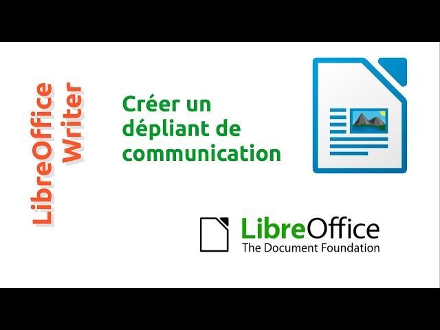 Un dépliant de communication avec LibreOffice: #1