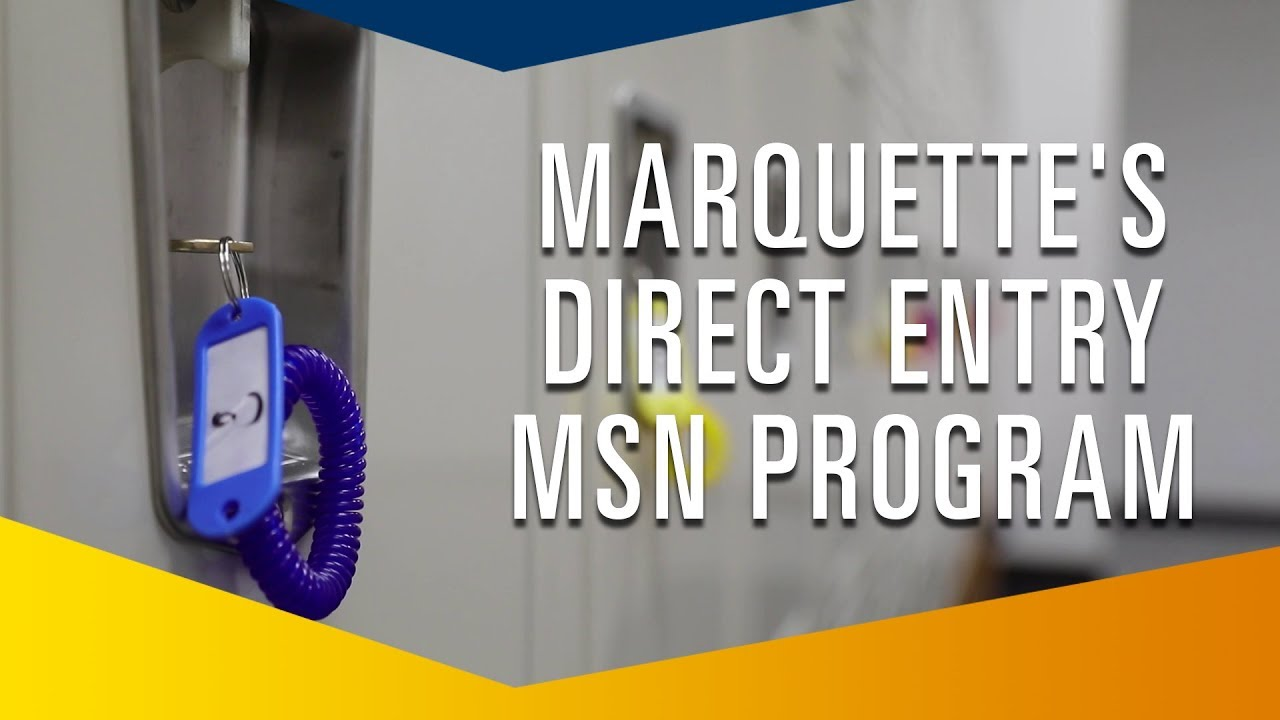 Direct Entry MSN Program | Marquette University Pleasant