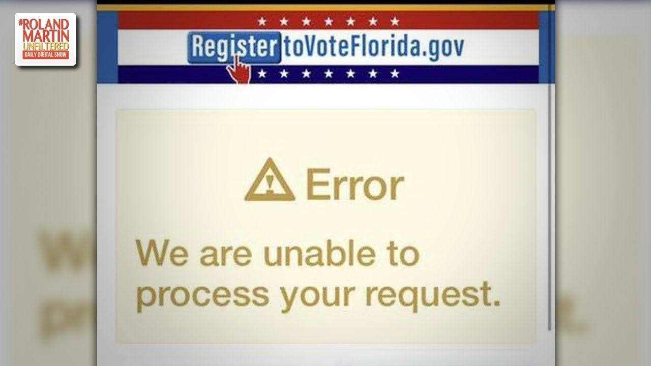 On day of deadline, Florida voter registration site crashes, is down ...