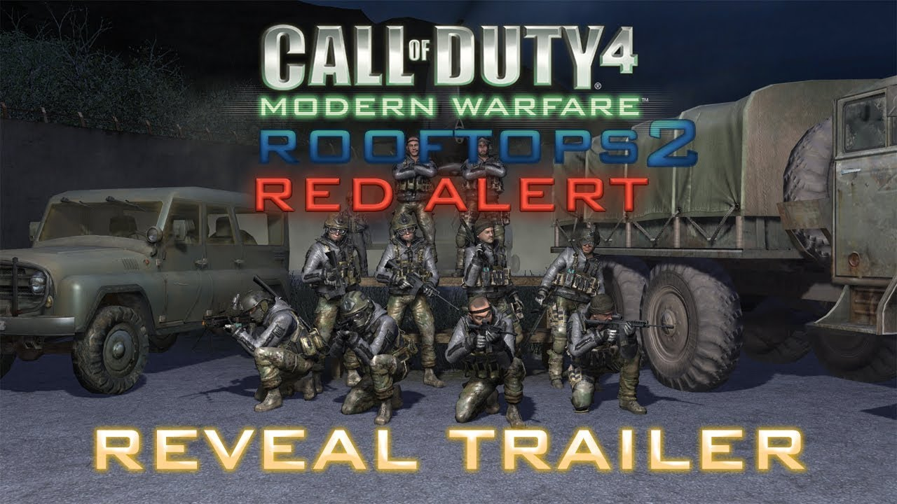 "Call of Duty 4: ""Rooftops"" 2 Red Alert Reveal Trailer"