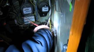Ремонт нулевого провода в щитке(Произошло обгорание