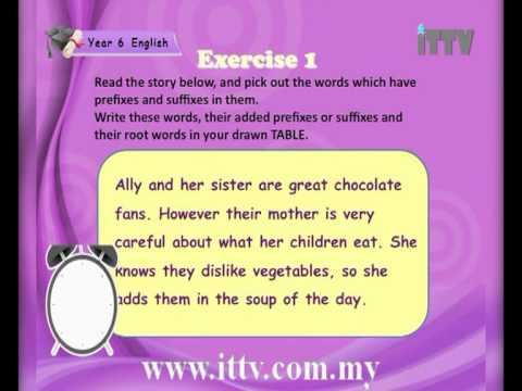 iTTV UPSR Year 6 English # 2 Proud to be a Malaysian (Prefixes and Suffixes) Tuition/Tips