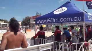 Australia - Thailand, Aust Beach Soccer Cup, North Wollongong Beach, N.S.W. Australia. 8th Dec 2013.