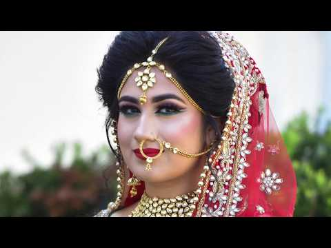 Indian Bridal Makeup Transformation | Asian Bride | Cut Crease look | Real Bride