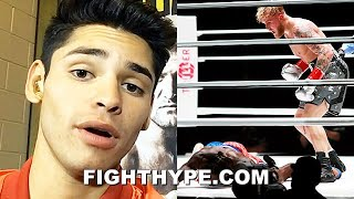 "RYAN GARCIA REACTS TO JAKE PAUL KNOCKING OUT NATE ROBINSON: ""WATCH WHAT I DO JAKE"""