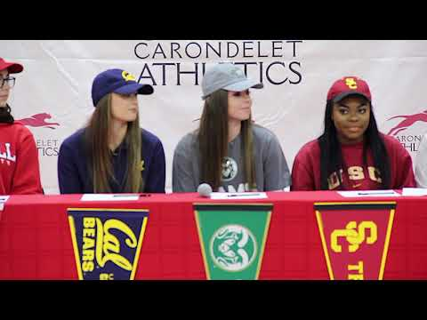 Carondelet High School - NLI Signing Day - Feb. 7, 2018