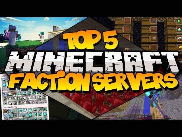 Top 5 Minecraft Faction Servers Best Faction Servers Youtube