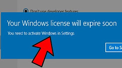 Fix 'Your Windows License Will Expire Soon' Error on Windows