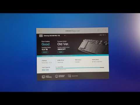 Samsung 960 Pro Firmware Update