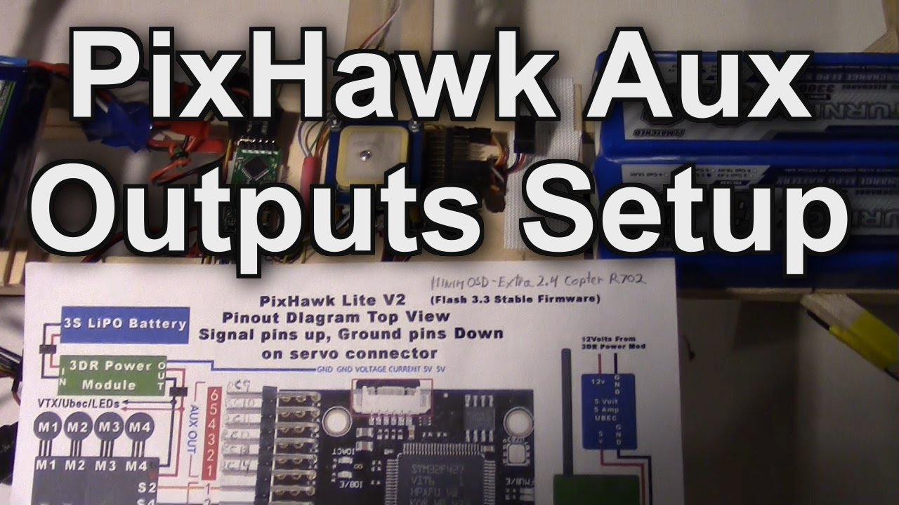 PixHawk AUX Outputs Setup for 14 Channels, Taranis X9D, X8R Receiver