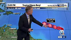 Tropical Depression Two becomes Tropical Storm Beryl