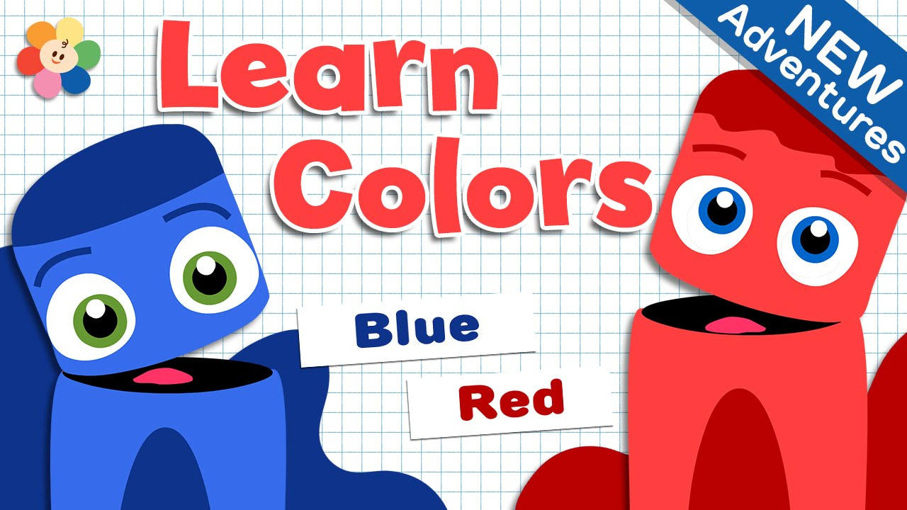 Color Learning For Children - Red And Blue
