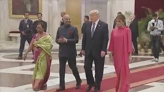 Donald Trump at Dinner in Rashtrapati Bhavan of India