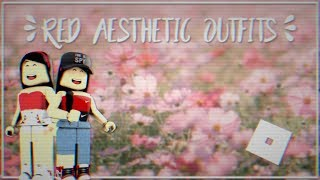 Rote ästhetische Outfit-Ideen    Roblox    Spn