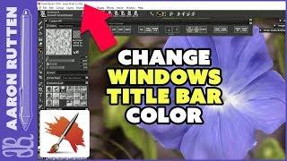 How to Make Windows Title Bar Match Dark Gray Theme in Painter 2019