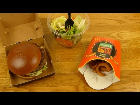 McDonald's - Signature Spicy Beef | Curly Fries | Snack Salad