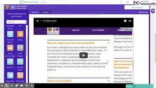 V6C: Microcredential Course Creation Made Easy - Customising Homepage