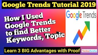 How to Use Google Trends in Hindi for YouTube Blog SEO,Find Niche|Google Trends Tutorial Kya Hai2019