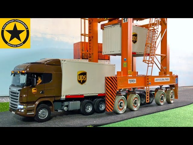 BRUDER Container Trucks UPS rc Umbau TEREX CONTAINER Carrier TOYS for CHILDREN