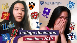 college decision reactions 2019   23 schools (harvard, yale, stanford, usc, berkeley ...)