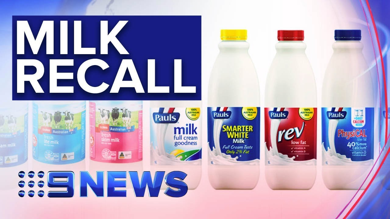 Milk Recalled Over Cleaning Solution Contamination Fears
