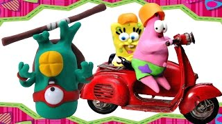 Spongebob Squarepants Patrick & Teenage Mutant Ninja Turtles Play Doh STOP MOTION Bob Esponja