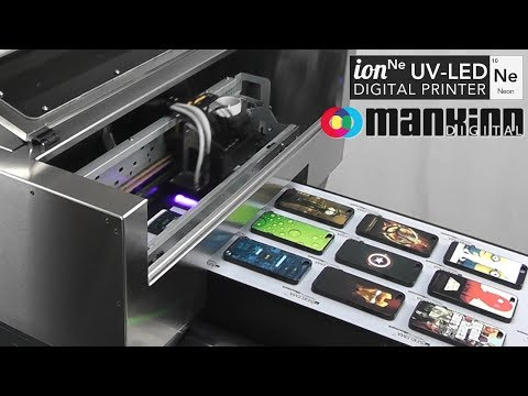 Neon UV-LED Printer - iPhone Cases Printing Process
