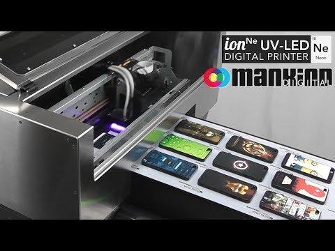 Neon UV-LED Printer - iPhone Cases Printing Process - YouTube