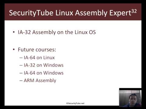 [SecurityTube.net]  What is Assembly Language? (SLAE)