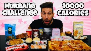 MUKBANG 10000 Calorie Challenge - Italiano Cheat Day - MAN VS FOOD