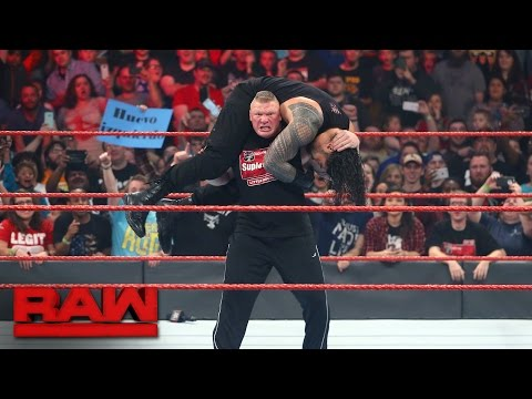 Thumbnail: Brock Lesnar confronts multiple Raw Superstars: Raw, Jan. 16, 2017
