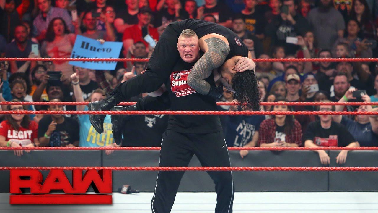 Download Brock Lesnar confronts multiple Raw Superstars: Raw, Jan. 16, 2017