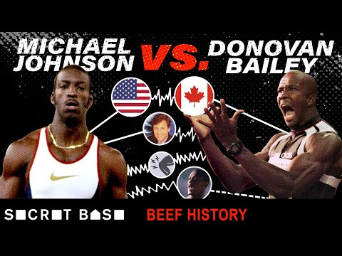 Michael Johnson and Donovan Bailey beefed for pride, country, and the title of World's Fastest Man