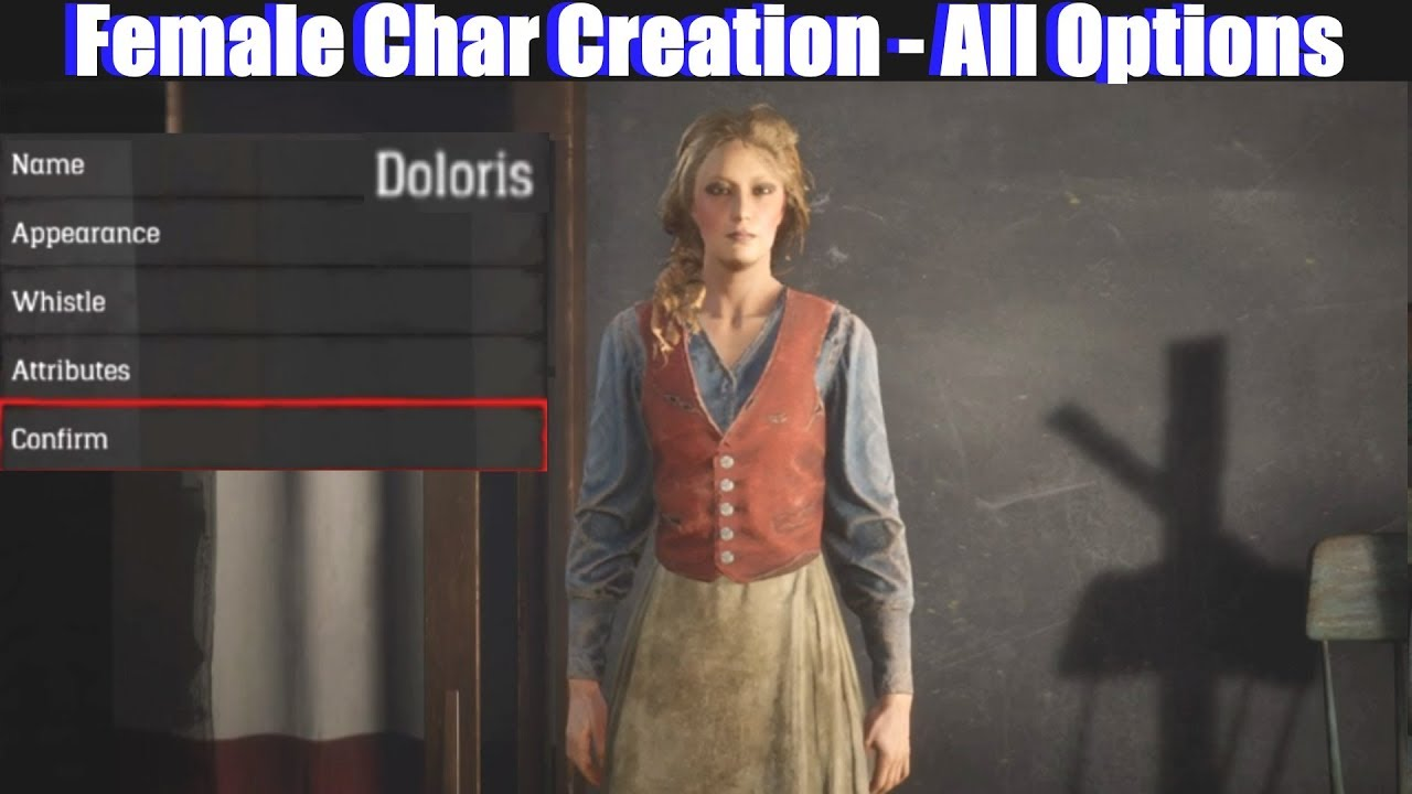 Rdr2 Female Character Creation All Options Detailed Red Dead