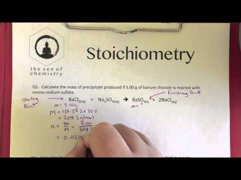Free Mass To Mass Stoichiometry Worksheet Q1 Worked Solution The