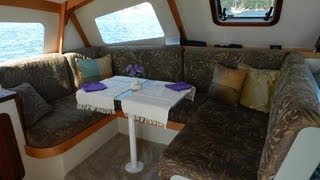 Skoota28 Power Catamaran Walkround Interior And Deck