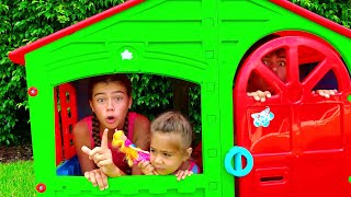 Nastya and Artem - a story about a house with new toys
