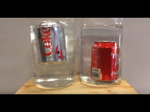 diet coke and coke in water experiment